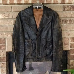 Vintage Outer Shell Genuine Leather Jacket